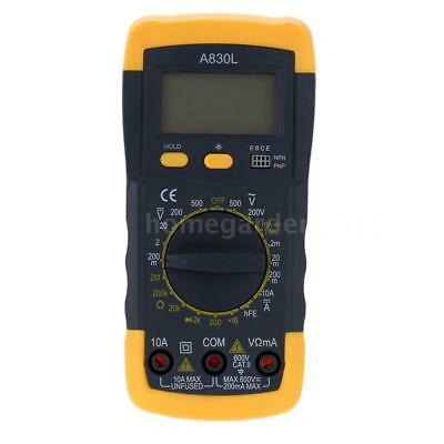 A830L Mini LCD Digital Multimeter Voltmeter Amperemeter Widerstand hFE Test I7Y2