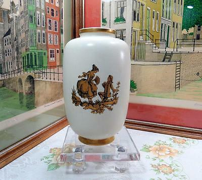 """Vintage Hyalyn Pottery #256 Victorian Courting Couple 9 1/2"""" Vase"""
