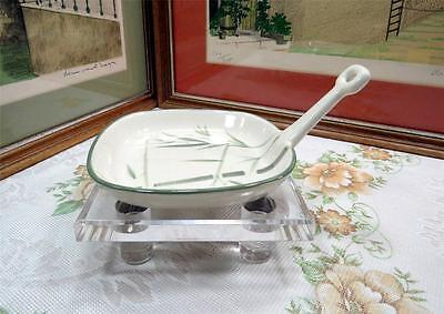 """Vintage Winfield Ware Green Bamboo 6"""" Open Skillet 1947"""