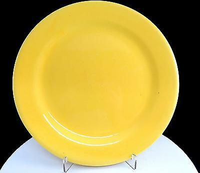 "BAUER POTTERY USA PLAINWARE YELLOW 9 3/8"" RIMMED DINNER PLATE 1930's"