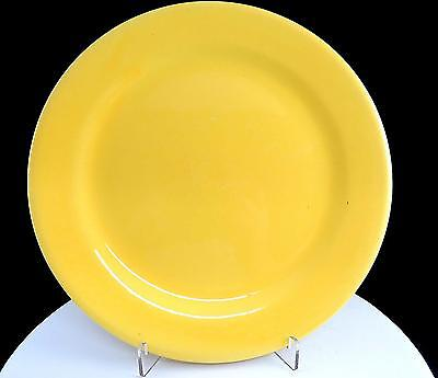 "BAUER POTTERY PLAINWARE YELLOW 9 3/8"" RIMMED DINNER PLATE 1930's"