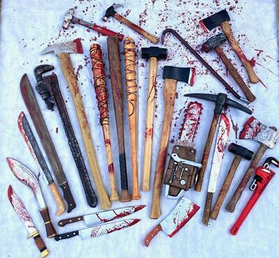 Realistic Foam Bloody Weapons Tools Halloween Horror Movie Large Props Con Safe