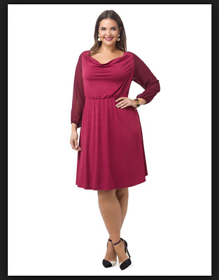 NEW IGIGI MULBERRY Soleil Blouson Dress Plus Size 18/20