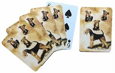 Airdales Dog Poker Playing Card Set of Cards By Ruth Maystead Airdale Terrier