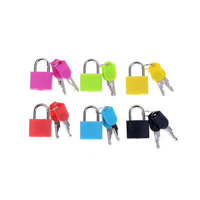 Small Mini Strong Steel Padlock Travel Tiny Suitcase Lock with 2 Keys TB