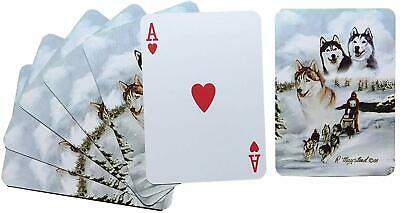 New Siberian Huskies Dog Poker Playing Card Set of Cards By Ruth Maystead Husky