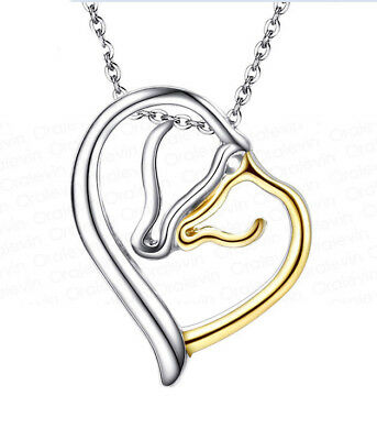 Horse & Western Jewellery Jewelry Silver & Gold Tone Mare & Foal Necklace