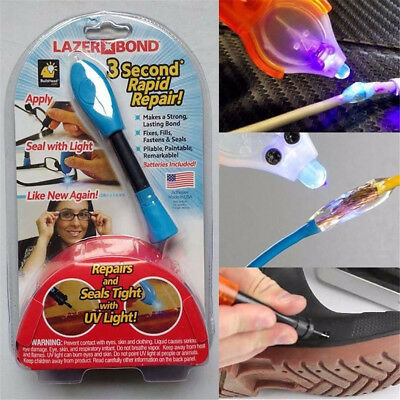 Lazer Bond 3 Second Fix -UV Light Repair Tool Liquid Weld Foam Bag