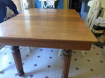 Antique Solid Oak Square Retangular Kitchen Dining Table 2