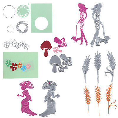 Lady Metal Cutting Dies Stencils DIY Scrapbook Album Paper Cards Emboss Decor