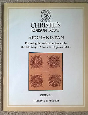 Auction Catalogue MAJOR ADRIAN HOPKINS AFGHANISTAN Christie's Robson Lowe