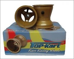 Top Kart Cadet Wet Wheel Set Bearing Front Stud Rear Brand New KPUK
