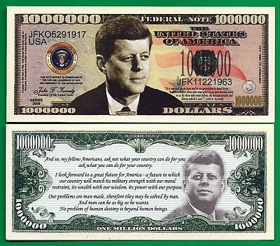 Kennedy 1963 Made America Great Again Set Five (5) Uncirculated Banknotes
