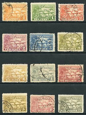 NEW GUINEA SG125/36 Set to One Pound (no 9d) Fine used