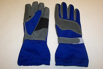 KART RACING GLOVES HIGH QUALITY IN BLUE   SIZES XXS  -  XXL Kart Parts UK