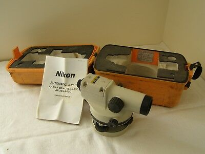 NIKON AX-2s 360 Degrees Automatic Surveying Level & Case ~ Free UK Post