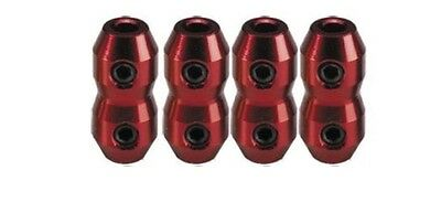 Kart Red Annodised Cable Clamps for Throttle & Brake Cable Pack of 4 Kart Parts