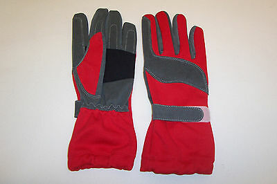 KART RACING GLOVES HIGH QUALITY IN RED   SIZES XXS  -  XXL Kart Parts UK