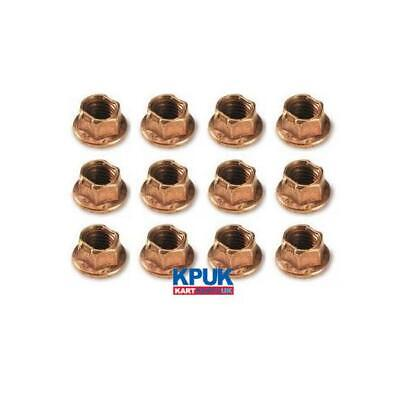 Kart 12 x  M8 K Nut CIK Brass Wheel Nut 10mm Spanner Size 8mm thread size New