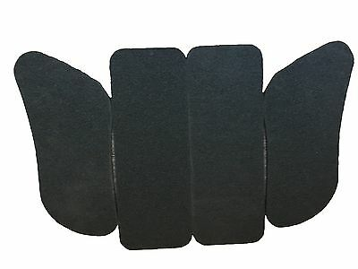 Kart Seat Padding Set 9mm Foam Self Adhesive Pair of SIDE Padding, Pair of REAR