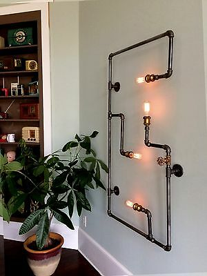 Steam Pipe Light Wall Sconce Vintage Steampunk Industrial
