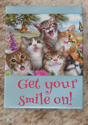 LEANIN TREE Get Your Smile On~#31514 Refrigerator Magnet~Cats & Kittens Selfie~