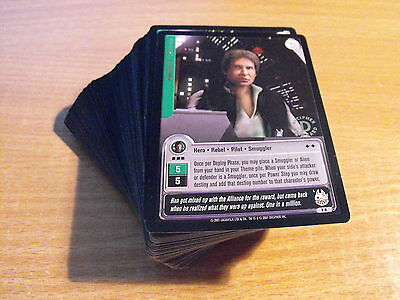 Star Wars Jedi Knights Set Of 99/100 Gold Foil Rares