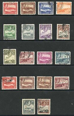 Antigua SG98/109 1937 KGVI Set Including ALL Shades Very Fine Used