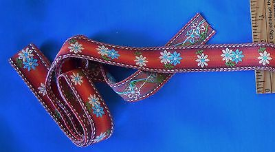 """2 Yards VINTAGE RIBBON TRIM 1"""" wide 100% Cotton Made in Western Germany"""