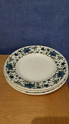 Jessie Tait Midwinter Spanish Garden Tea Side Plates X 3 450