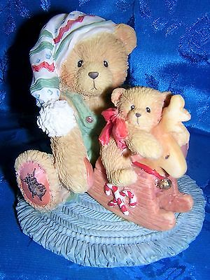 CHERISHED TEDDIES HANS with ROCKING HORSE Cute!!  NEW & Never Displayed