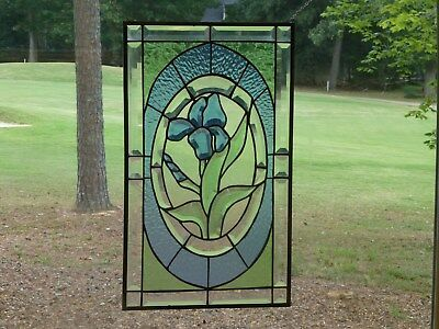 Beautiful Colorful Iris in Bevels and Stained glass-Handmade