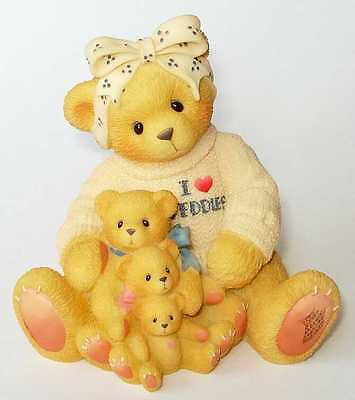 "CHERISHED TEDDIES A MOM""S LOVE wrapped gift SET OF 2 Mother's Day New"