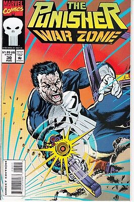 PUNISHER WAR ZONE #30 1994 MARVEL  by STAN LEE  BUSCEMA/DIXON -RING/FIRE-...NM-