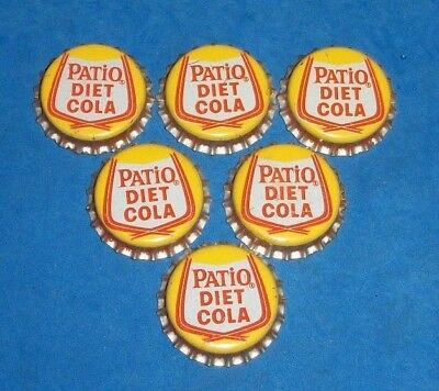 Charming (2) Unused NOS 1960/70s Patio Diet Cola Cork Lined Soda Bottle Caps