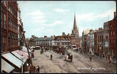 Postcard - Herefordshire - Hereford, High Town