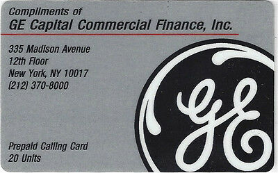 TK Telefonkarte/Phonecard General Electric 20u Commercial Finance Inc.