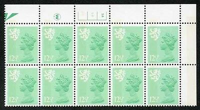 S-JFP12.5A 12.5p Light Emerald Scotland Waddington LB FCP/PVA 5A/5B No Dot U/M