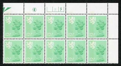 S-JFP12.5A 12.5p Light Emerald Scotland Waddington LB FCP/PVA 3A/3B Dot U/M