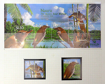 NAURU 2003 Birds Set & M/Sheet U/M NB2972
