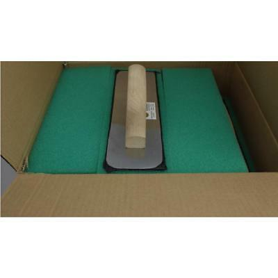 "12Pk 4""X12""X3/4"" Green Foam Stucco and Grout Float Wood Handle Merit Pro 09292"