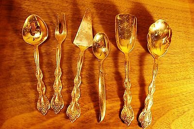 Vintage 5 Small International SIlverplate Serving plus 1 Rodgers 4-6 inches