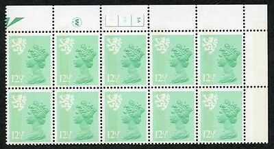 S-JFP12.5A 12.5p Light Emerald Scotland Waddington LB FCP/PVA 5A/4B No Dot U/M