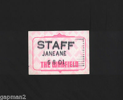 "Janeane Garofalo 2001 Bill Graham Warfield Staff 2 11/16"" x 3 3/4"" Cloth Pass"