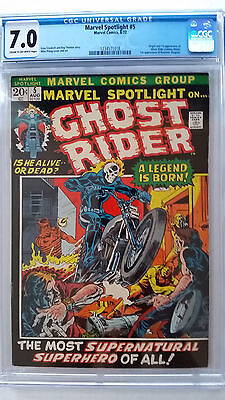 Marvel Spotlight #5 CGC 7.0 F/VF  Origin 1st Appearance Ghost Rider