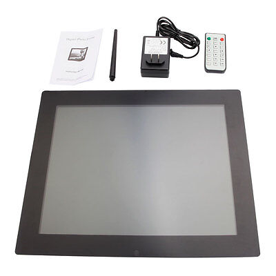 "15"" New Ratent Digital Photo Frame Black"