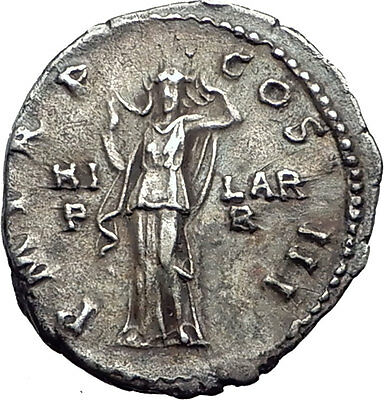 HADRIAN 119AD Rome Authentic QUALITY Ancient Silver Roman Coin HILARITAS i63917