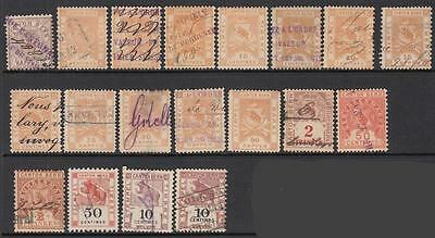 Switzerland Bern Canton Revenues collection 19 diff old stamps
