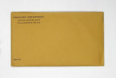 1959 U.S. Proof Set. Complete As Issued By The US Mint. Sealed/Unopened Envelope