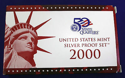 2000-s U.S. SILVER Proof Set. U.S. Mint Made in Red Mint Box with COA